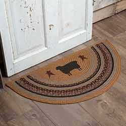 Heritage Farms Sheep Half Circle Rug