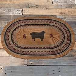 Heritage Farms Sheep Braided Rug