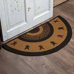 Heritage Farms Star Half Circle Rug