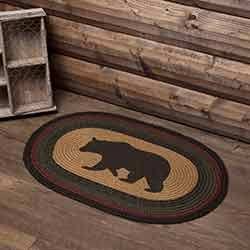 Wyatt Bear Oval Braided Rug (20 x 30 inch)