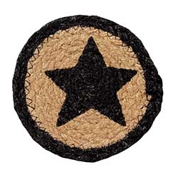Farmhouse Jute Coaster with Star
