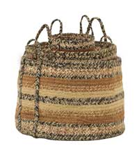 Kettle Grove Jute Baskets (Set of 3)