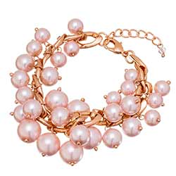 Pink Persia Pearl Cluster Bracelet