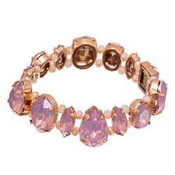 Pink and Gold Gem Bracelet