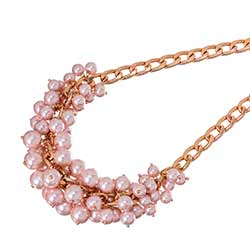 Pink Persia Pearl Cluster Necklace