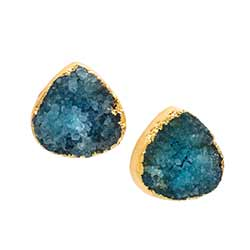 Teardrop Druzy Earrings in Turquoise