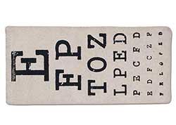 Eye Chart Eyeglasses Case