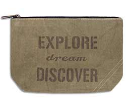 Explore Dream Discover Small Travel Pouch
