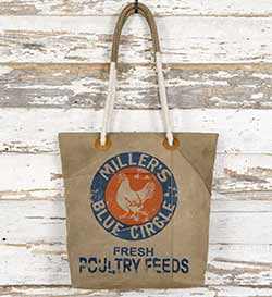 Poultry Feed Sack Vintage Canvas Tote Bag