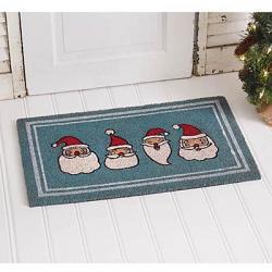 Jolly Santas Doormat