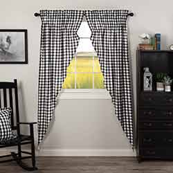 Annie Buffalo Black Check Long Prairie Curtain