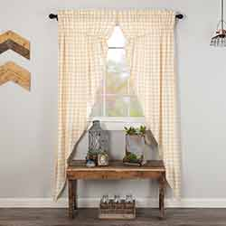 Annie Buffalo Tan Check Long Prairie Curtain