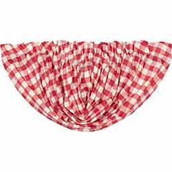 VHC Brands Annie Buffalo Red Check Balloon Valance