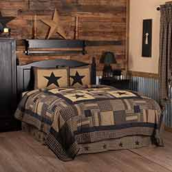 Black Check Star Quilt SET (Multiple Size Options)