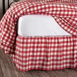 VHC Brands Annie Buffalo Red Check Bed Skirt