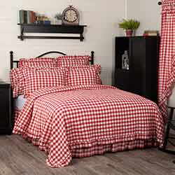 VHC Brands Annie Buffalo Red Check Coverlet