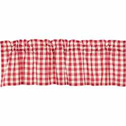 VHC Brands Annie Buffalo Red Check Valance