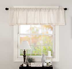 Burlap Antique White Valance