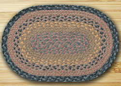 Brown, Black, & Charcoal Jute Placemat