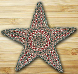 Green & Burgundy Star Trivet