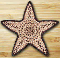 Chocolate & Natural Star Trivet