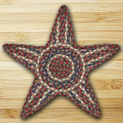 Burgundy & Grey Star Trivet