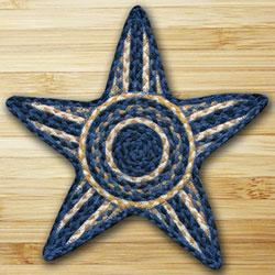 Light Blue, Dark Blue, & Mustard Star Trivet
