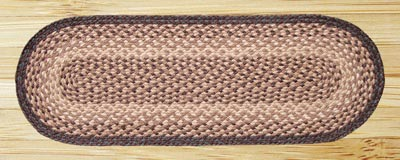 Chocolate and Natural Jute Table Runner - 36 inch
