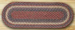 Burgundy and Gray Jute Table Runner - 36 inch