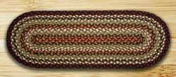 Burgundy, Mustard, and Ivory Jute Table Runner- 36 inch