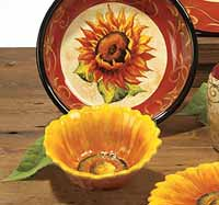 Certified International Tuscan Sunflower Ice Cream Bowl