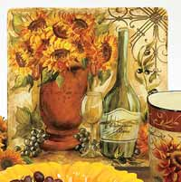 Tuscan Sunflower Square Platter - 14.5 inch