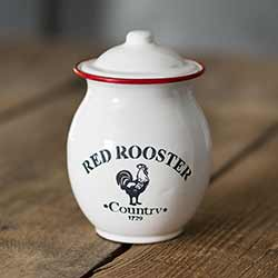 Rooster Enamel Canister