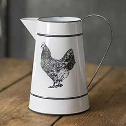 Hen Metal Pitcher