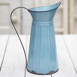 Blue Tall Slender Pitcher