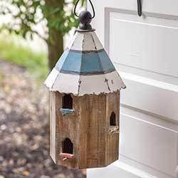 Distressed Wood Finch Birdhouse