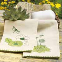 Cactus Flower Guest Towel
