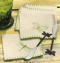 Butterfly or Dragonfly Cocktail Napkin