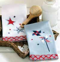 Pinwheel and Stars Guest Towel