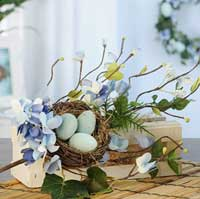 Nest Egg and Flower Spray