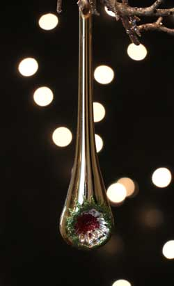 Gold Reflector Drop Ornament