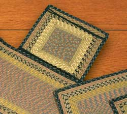 Brown, Black, and Charcoal Cotton Tweed Chair Pad (Square)