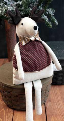 Red/Brown Tweed Boy Reindeer