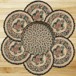 Pinecone Braided Jute Trivet Set