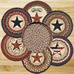 Mixed Stars Braided Jute Trivet Set