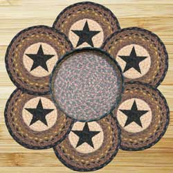 Stars Braided Jute Trivet Set