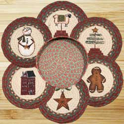 Winter Braided Jute Trivet Set