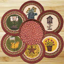 Spring Braided Jute Trivet Set