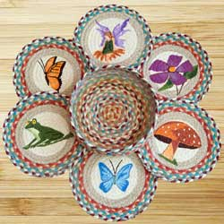 Fairy Spring Braided Jute Trivet Set