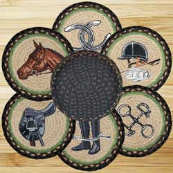Equestrian Braided Jute Trivet Set